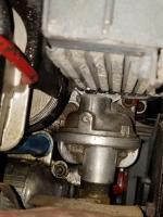 Aircooled motor external oil cooler