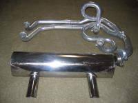 early version of a Tangerine Racing exhaust system for Karmann Ghia made by Chris Foley