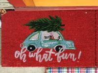 Beetle Christmas doormat