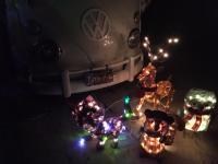 66 Sundial with Christmas light animals