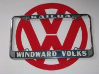 Kailua WINDWARD VOLKS Oahu Hawaii Plate Frame