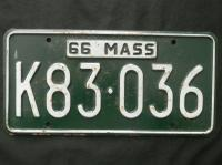 1963 1966 Mass Massachusetts License Plate