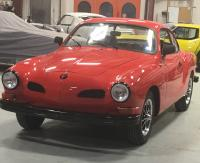 1972 KarmannGhia Restore - Black Powder Coat