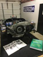 2L engine and fan housing installed