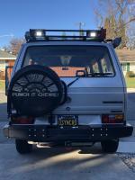 van with lights