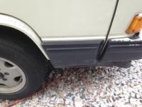 Existing passenger side, lower door trim piece