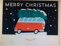 Christmas split bus gift card envelope from Amazon