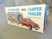 Volkswagen w/ Camper Trailer Bandai