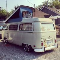 "Lowered slammed bay bus Westfalia 17"" rims"