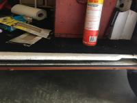 Electric washer pump and slider door sill paint