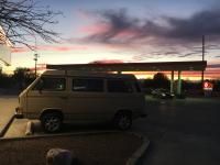 Sunset in Phoenix  with vanagon