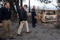 wildland fire - burned vanagon