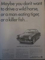 1966 VW Karmann Ghia Advertisement