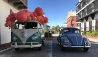 1959 Beetle and 1963 Bus at Rosemary Beach, Florida