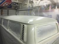 Pastel White on the 78 Transporter