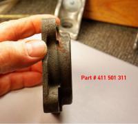 411-412 rear bearing cover and cv hub