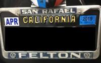Felton License Plate Frame
