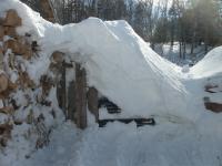 85 Jetta snowed in