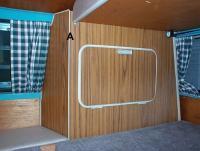 Shortened side cabinet.
