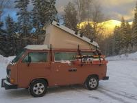 Westy in snow