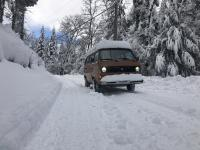 Van in the snow!