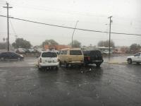 Van in snow Tucson