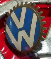 VW grill badge