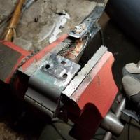 1966 Bus Door Hinge Repair