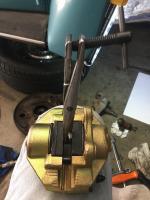 77 Front disc brake kit install