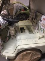 Microbus front window sills and cabin