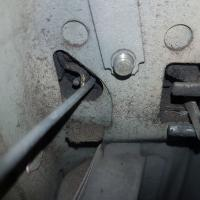 Drivers door inside latch