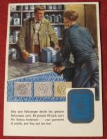 VW dealer parts counter postcard