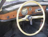 Our (new to us) used repro steering wheel installed with horn working. 1971 Ghia