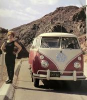 1962 1963 23 Window Deluxe SWR BG Desert Vacation Bumper Step Mudflaps White Walls California Black Plate Inglewood Issue Vintage Photo