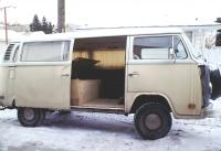1973 VW Passenger Van with retractable sunroof camperized
