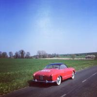 Pelican red 1955 lowlight Karmann Ghia