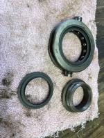 Throwout bearing disassembled.