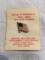 Moore Motors US flag pin