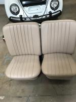 1961 bug seats in tan leather with mb-4 perforated