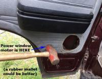 power window motor hammer whack