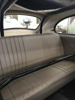 Back seat in tan leather with mb4 perforated