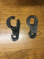 "Late Bay bus Clutch lever arm, Old vs. ""new"""