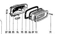 Centre brake light threaded plate