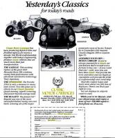 Classic Motor Carriages Replicas Ad