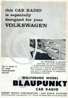 Wolfsburg radio ad circa 1958