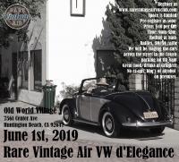 Rare Vintage Air VW d'Elegance 2019