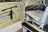 Pea green seat covers & door panels