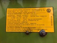1978 Bus emission sticker