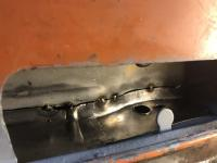 Washer bottle panel welding