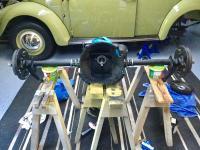Swing rear transaxle complete